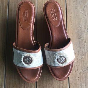 COACH mules cork size 38 1/2